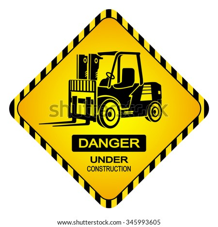 Construction area display lettering construction area display - Forklifts Operating This Area Sign Stock Vector 572609059