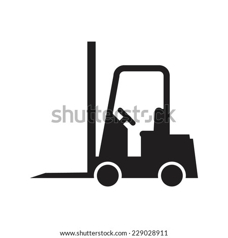 Forklift truck, vector illustration - stock vector