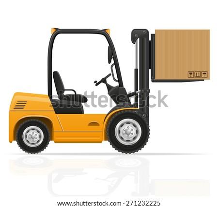 forklift truck vector illustration isolated on white background - stock vector