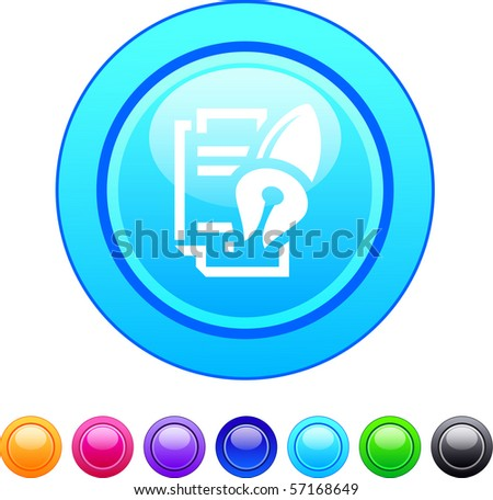 Form and pen glossy circle web buttons.