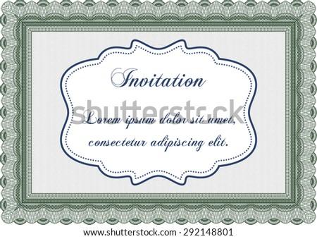 Formal invitation border framewith guilloche pattern stock vector formal invitation border framewith guilloche pattern excellent complex design stopboris Gallery