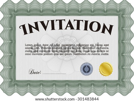 Formal invitation template border frame sophisticated design stock formal invitation template border framephisticated design with quality background stopboris Choice Image