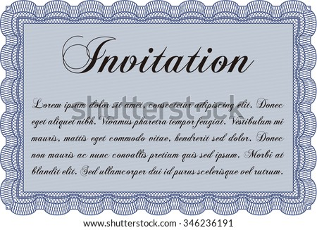 Formal invitation template border frame with guilloche stock vector formal invitation template border framewith guilloche pattern and background excellent complex stopboris Image collections