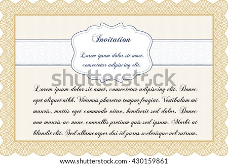 Formal Invitation Template Complex Background Customizable Stock