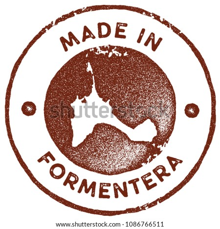Formentera Map Vintage Red Stamp Retro Stock Vector 1086766511