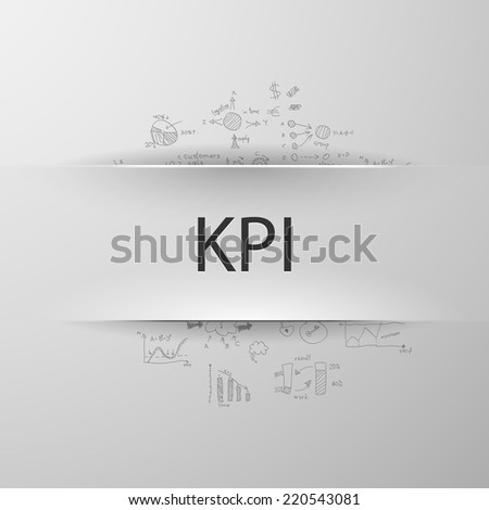 formula concept: Key Performance Indicator - stock vector