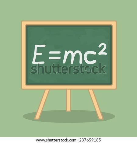 Formula of energy pn blackboard, vector eps10 illustration - stock vector
