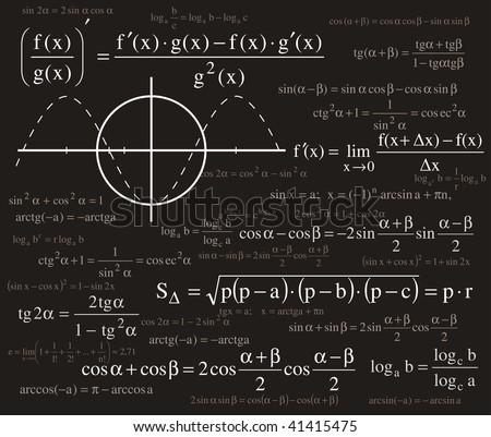 Formulas background - stock vector
