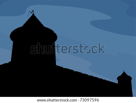 Fortress - stock vector