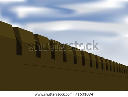 Fortress wall - stock vector