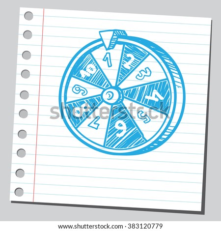 Fortune wheel - stock vector
