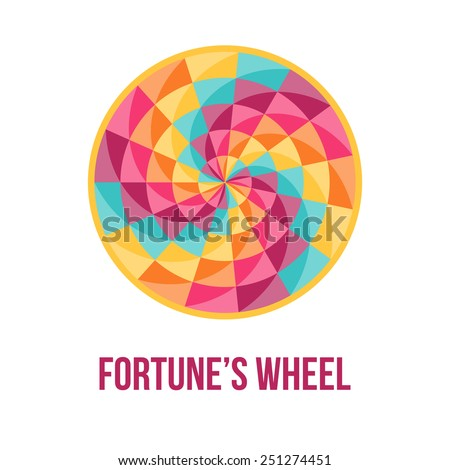 Fortune wheel - symbol of good luck - with abstract geometric pattern. Vector illustration. - stock vector