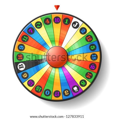 Fortune Wheel. Vector. - stock vector