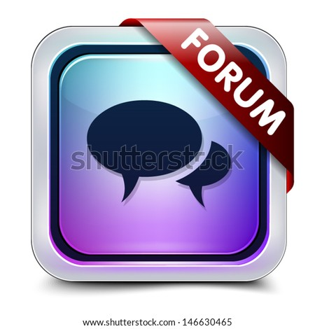 Forum button - stock vector