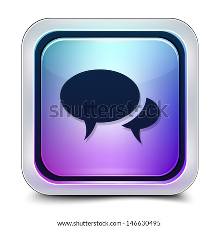 Forum/Chat button - stock vector