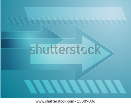 Forward moving arrows pointing right, design illustration