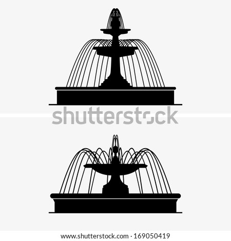 Fountains - stock vector