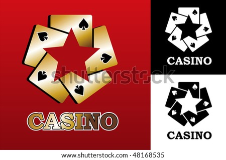 Four aces. Casino Poker Cards on black background. Vector available - stock vector