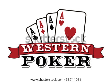 Four aces. Casino Poker Cards with red ribbon on white background. Vector file. - stock vector