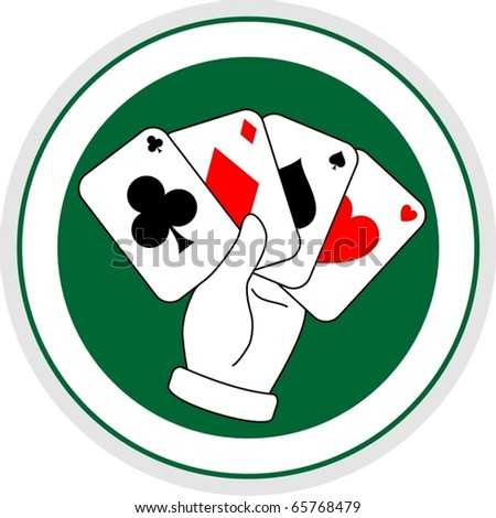 Four aces of poker - stock vector