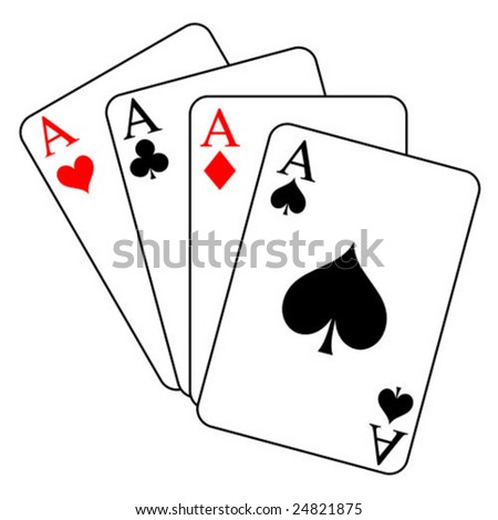 four aces - vector - stock vector