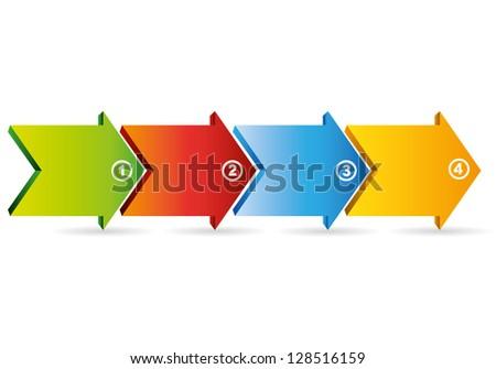 four arrows process diagram, business diagram - stock vector