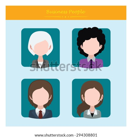 Four avatars of business people