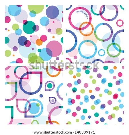 four bright seamless patterns - stock vector