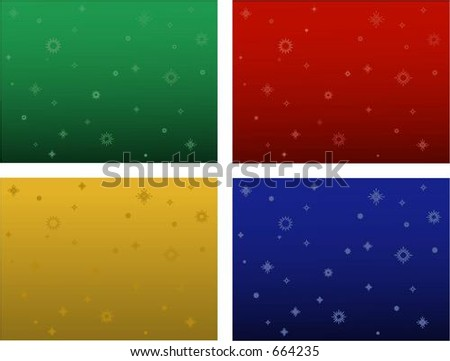 Four Christmas vector backgrounds. Can be used for many things - including ads and websites. - stock vector