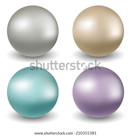 Four colorful balls on white background - stock vector