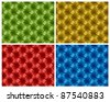 Four colorful button-tufted leather backgrounds. Vector illustration. - stock vector