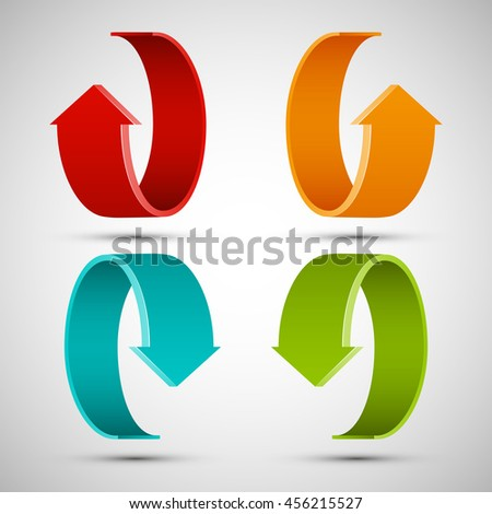 Four Curved Arrow 4 Direction Banner Stock Vector Royalty Free Rh Shutterstock Com Right