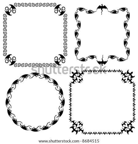 Four Dragonthemed Frames Stock Vector 8684515 - Shutterstock