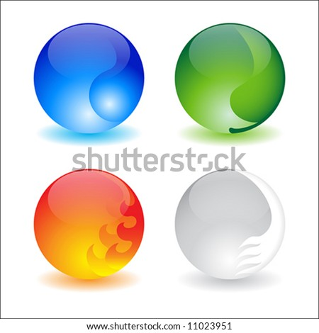 Four elements - stock vector