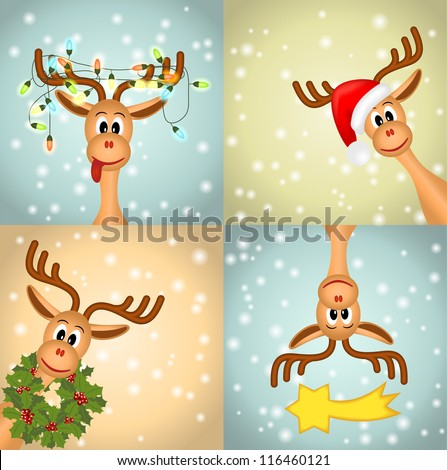 Christmas Reindeer Stock Images, Royalty-Free Images ...