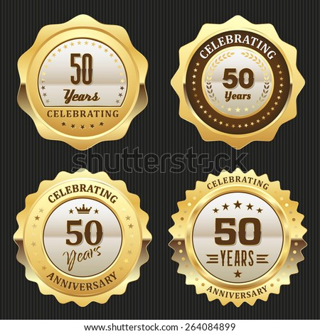 Four Gold Celebrating 50 Years