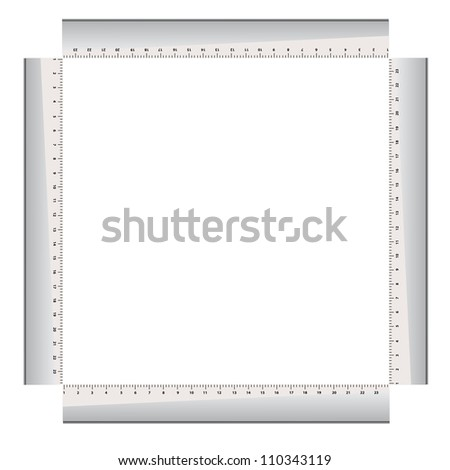 four gray rulers on a white background. Vector illustration - stock vector