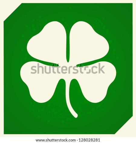 Four leaf clover background Vector illustration - stock vector