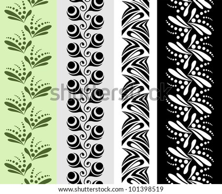 Four seamless ornamental patterns - stock vector