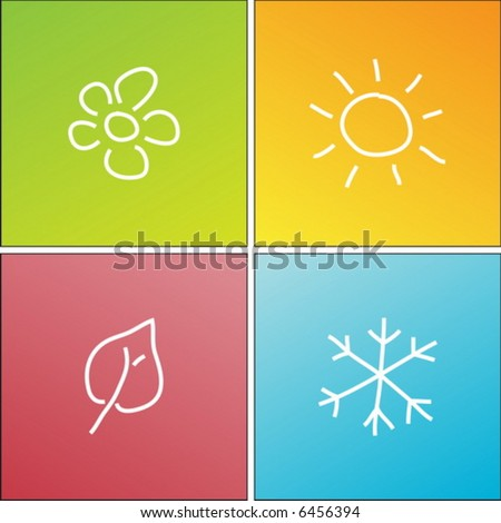 four seasons - stock vector