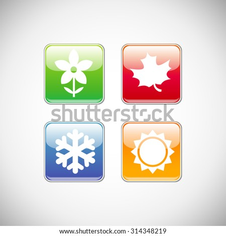 four seasons icon symbol vector illustration stock vector