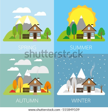 four seasons stock images royaltyfree images amp vectors