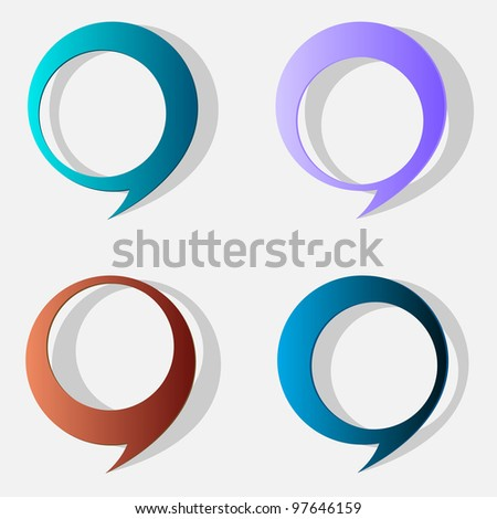 Four speech bubbles. Vector eps10 - stock vector