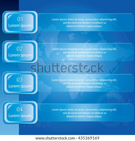 Four step banner diagram, Vector illustration.