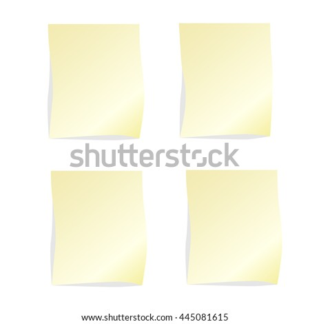 Four stickers beige color on a white background