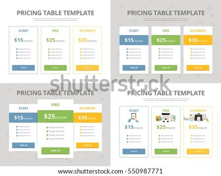 Flat Design Applications Web Site Templates Stock Vector 157158527 Shutterstock