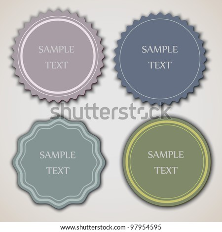 Four vintage labels.Vector eps10 - stock vector