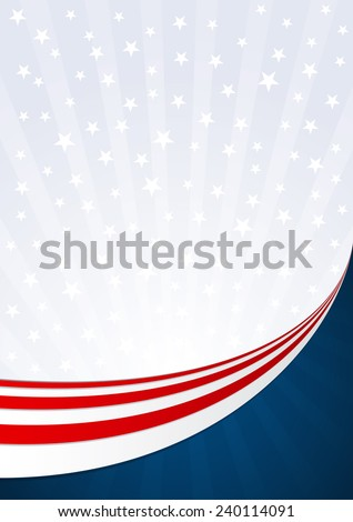 Fourth of July Background America - stock vector