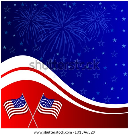 Fourth of july banner