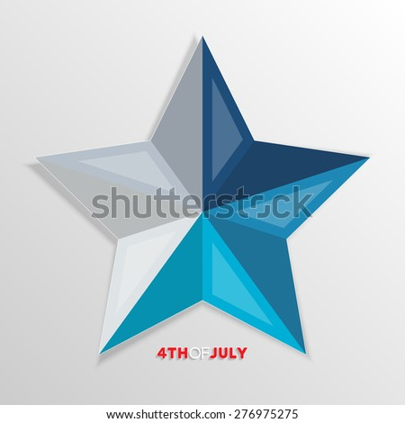 Fourth of july. Happy independence day abstract star for your design - stock vector